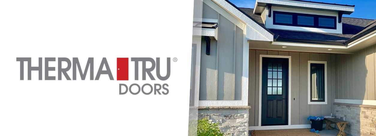 Therma-Tru Doors logo with Therma-Tru door