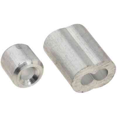 """Prime-Line Cable Ferrules and Stops, 1/8"""", Aluminum"""