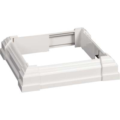 Beechdale 6 In. W. x 6 In. L. PVC White Post Trim Collar