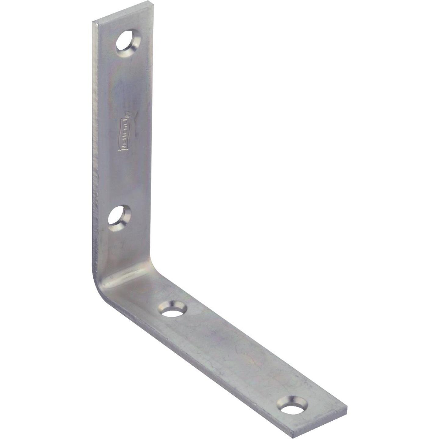 National Catalog 115 4 In. x 7/8 In. Zinc Corner Brace Image 1