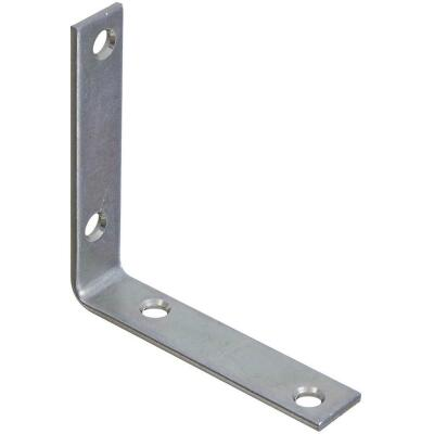 National Catalog V115 3-1/2 In. x 3/4 In. Zinc Steel Corner Brace (4-Count)