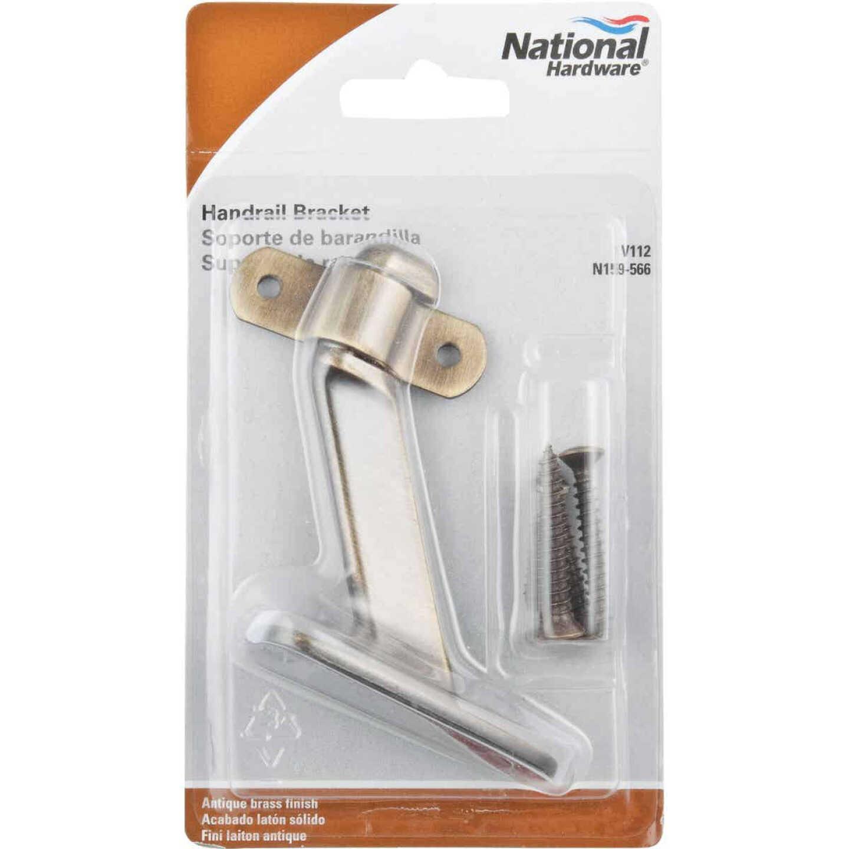 National Antique Brass Zinc Die-Cast With Steel Strap Handrail Bracket Image 2
