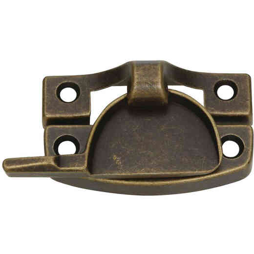 National Antique Brass Finished Die-Cast Zinc Crescent Sash Lock