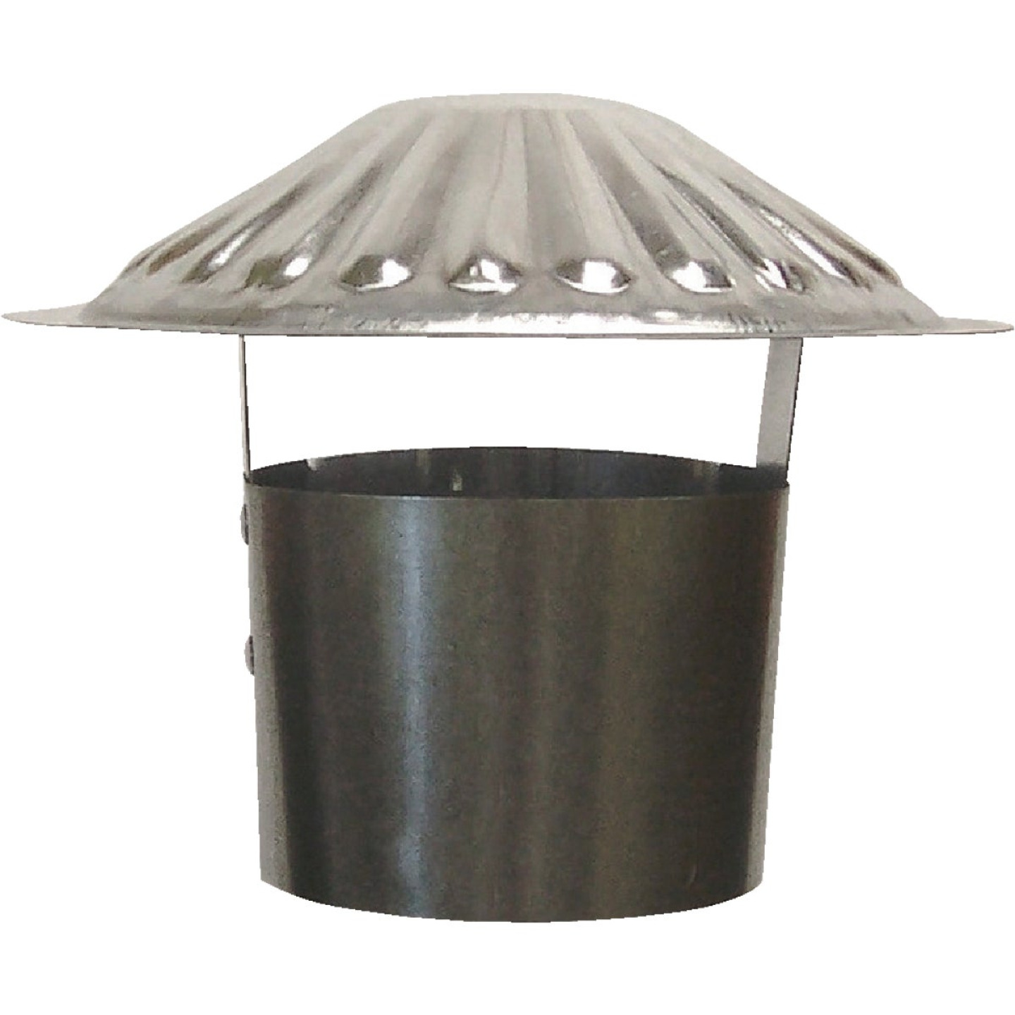 S & K Galvanized Steel 4 In. x 6-3/4 In. Vent Pipe Cap Image 1