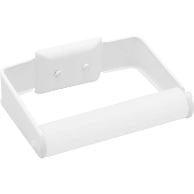 Decko White Wall Mount Toilet Paper Holder