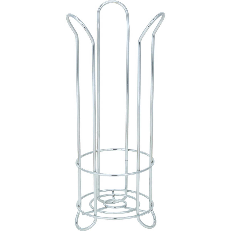 InterDesign Forma Chrome Tulip Freestanding Toilet Paper Holder Image 4