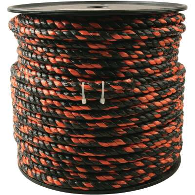 Do it 1/2 In. x 250 Ft. Orange & Black Truck Polypropylene Rope