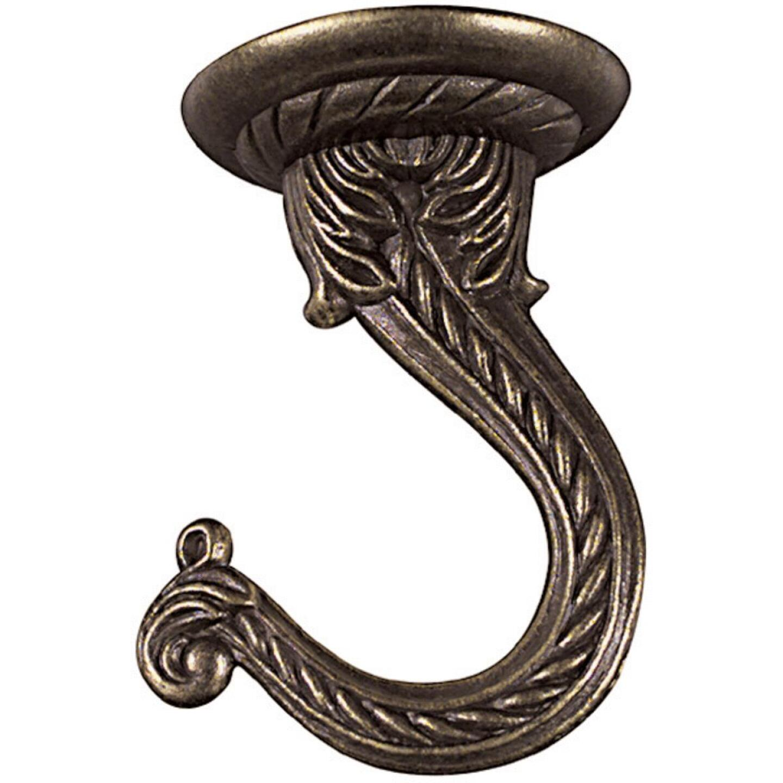 National 2-1/4 In. Antique Brass Die Cast Swag Hook Image 2